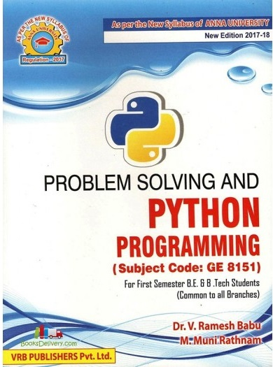 PDF] GE8151 Problem Solving and Python Programming Lecture